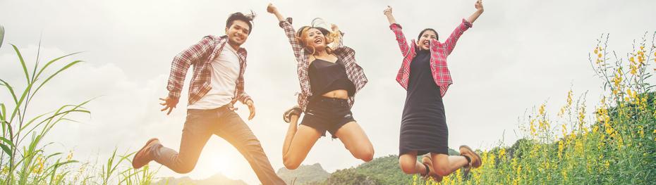 3 gelukkig mensen